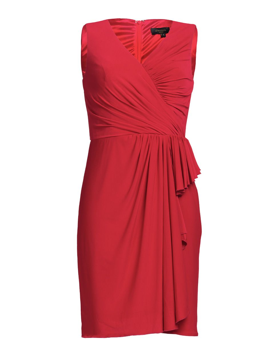 Dumisani red draped jersey dress