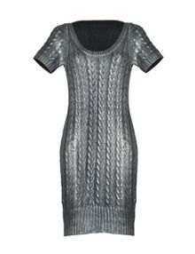 Aftershock Lakini cable knit dress