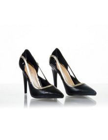 Lydia black pointed high heel