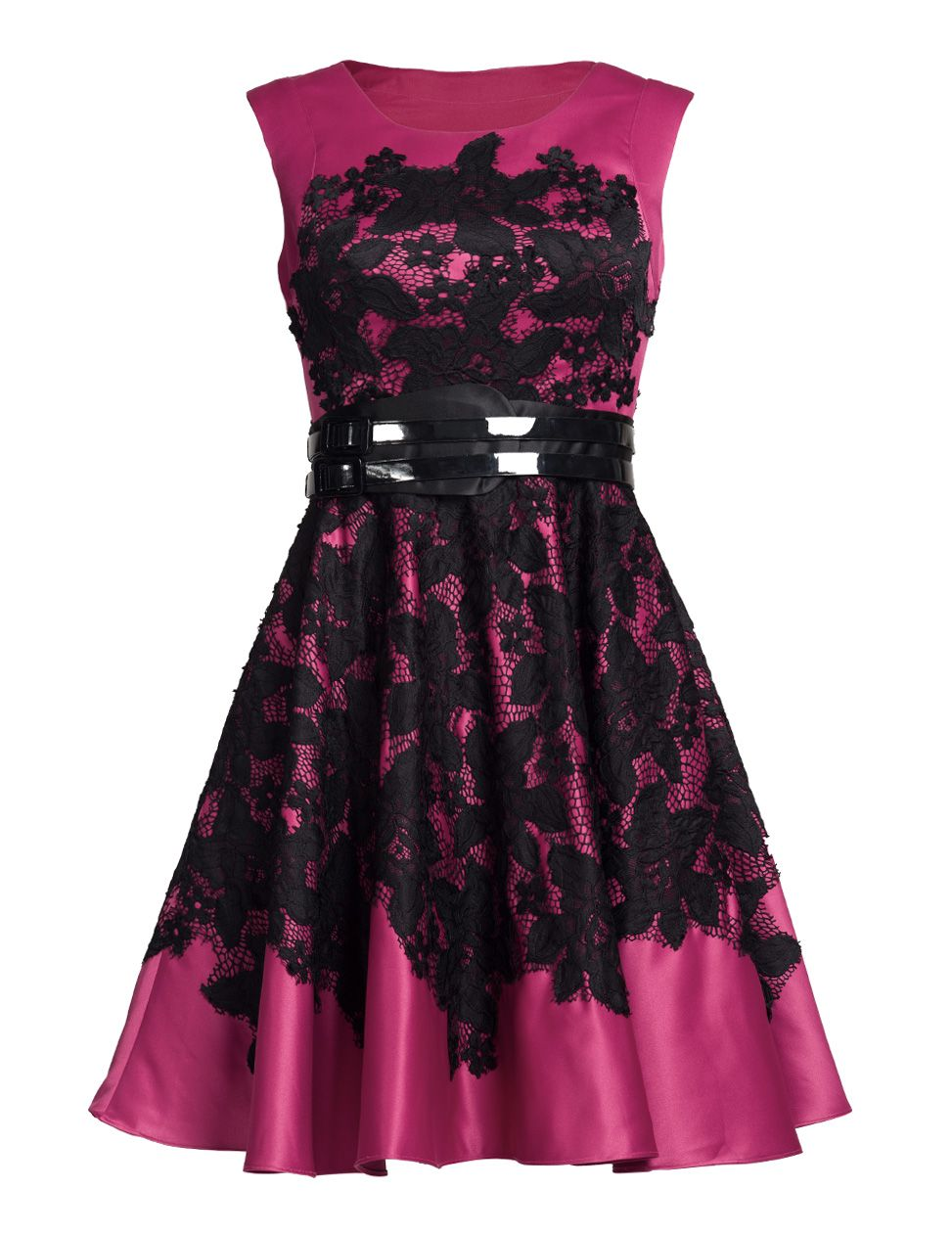 Tamikia fuschia fit & flare dress