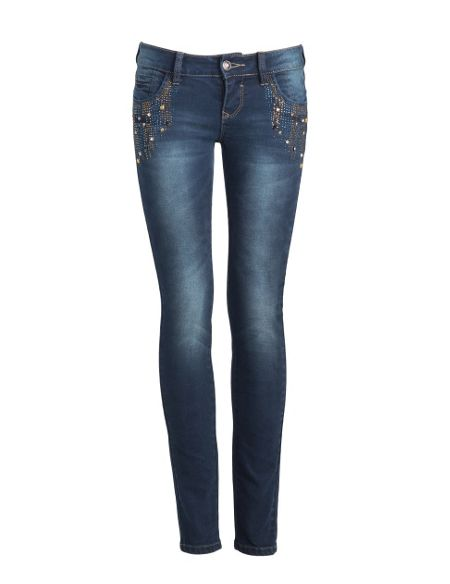 Aftershock Faronda dark wash embellished jeans