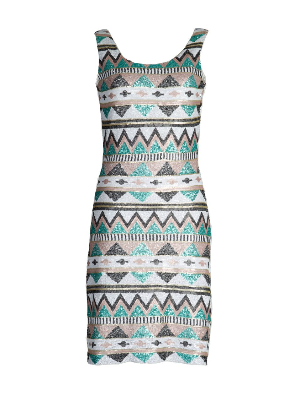 Tawnya embellished aztec print dress