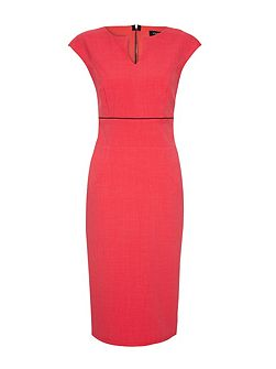 Talesia coral tailored shift short dress