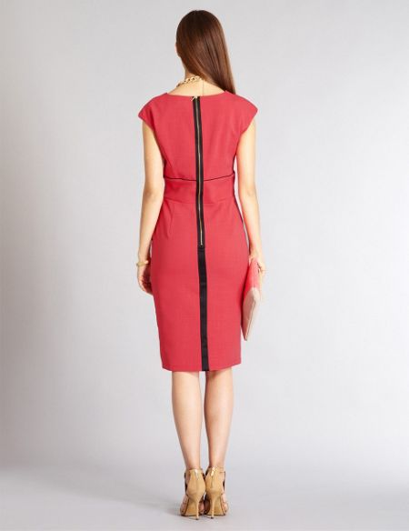 Aftershock Talesia coral tailored shift short dress