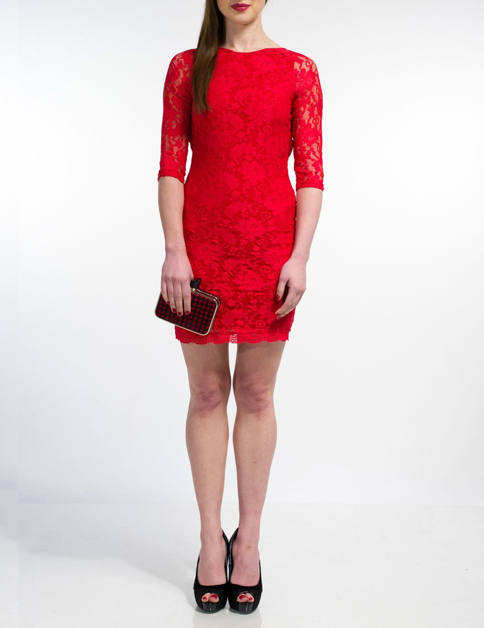Alisia lace short dress