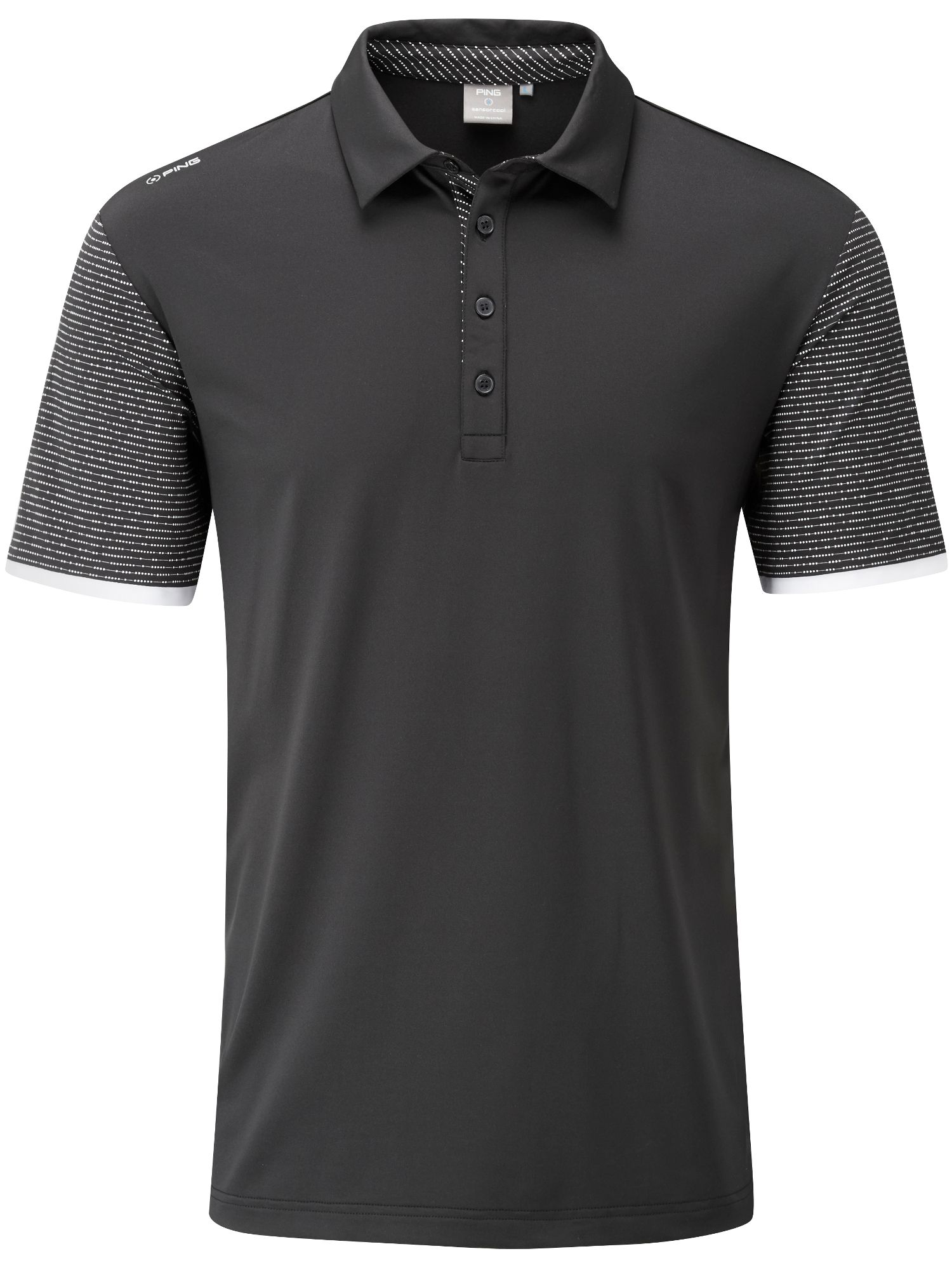 Men's Ping Sotto Polo, Black