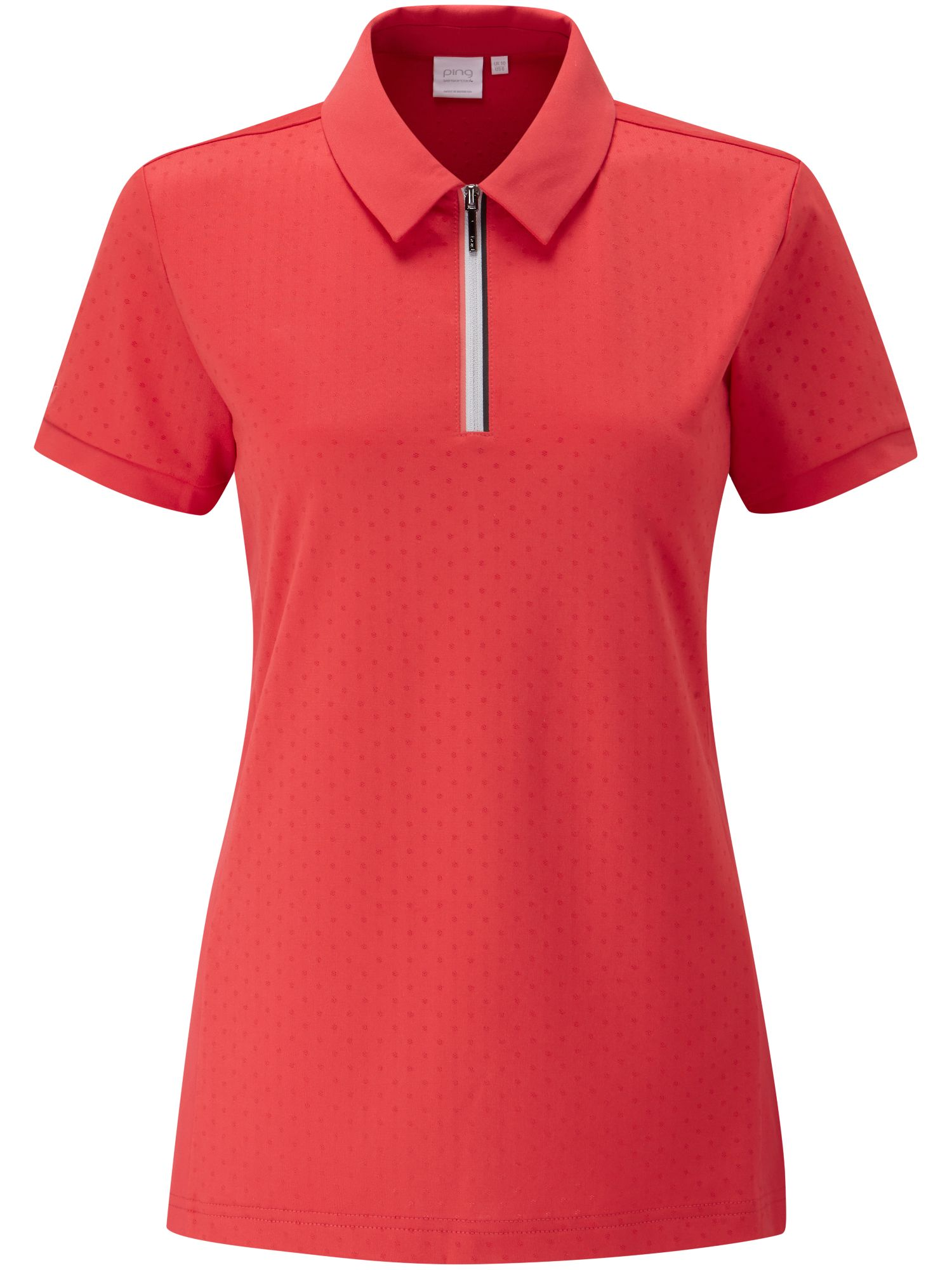 Ping Noa Short Sleeve Polo, Red