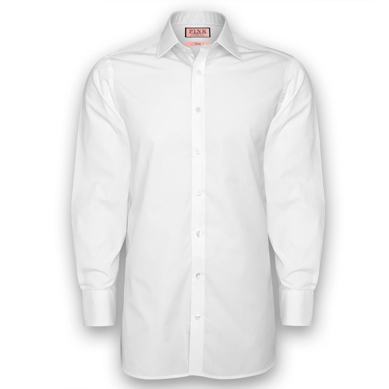Solid regular fit double cuff shirt