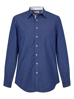 Landguard plain regular fit casual shirt