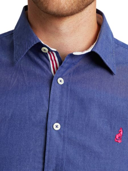 Thomas Pink Landguard plain regular fit casual shirt
