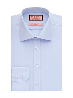 Slim fit twill button cuff shirt