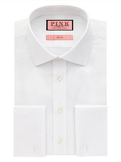 Jude Texture Slim Fit Double Cuff Shirt