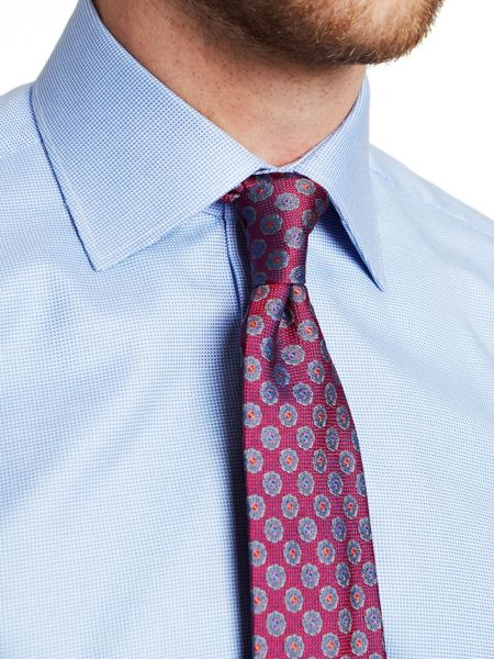 Thomas Pink Royal Oxford Slim Fit Double Cuff Shirt