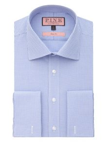 Thomas Pink Slim fit double cuff shirt