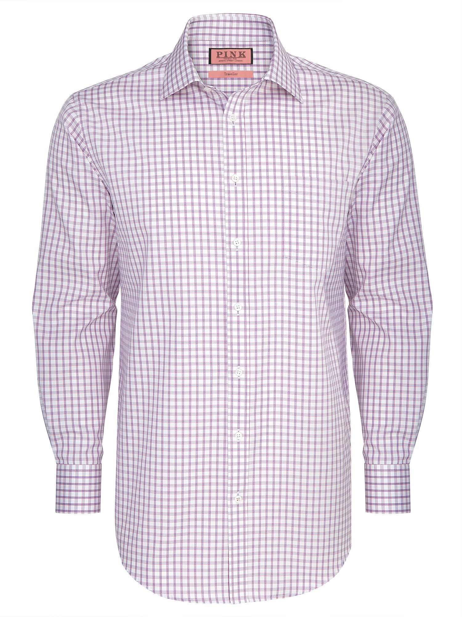 Bell check long sleeve regular fit shirt