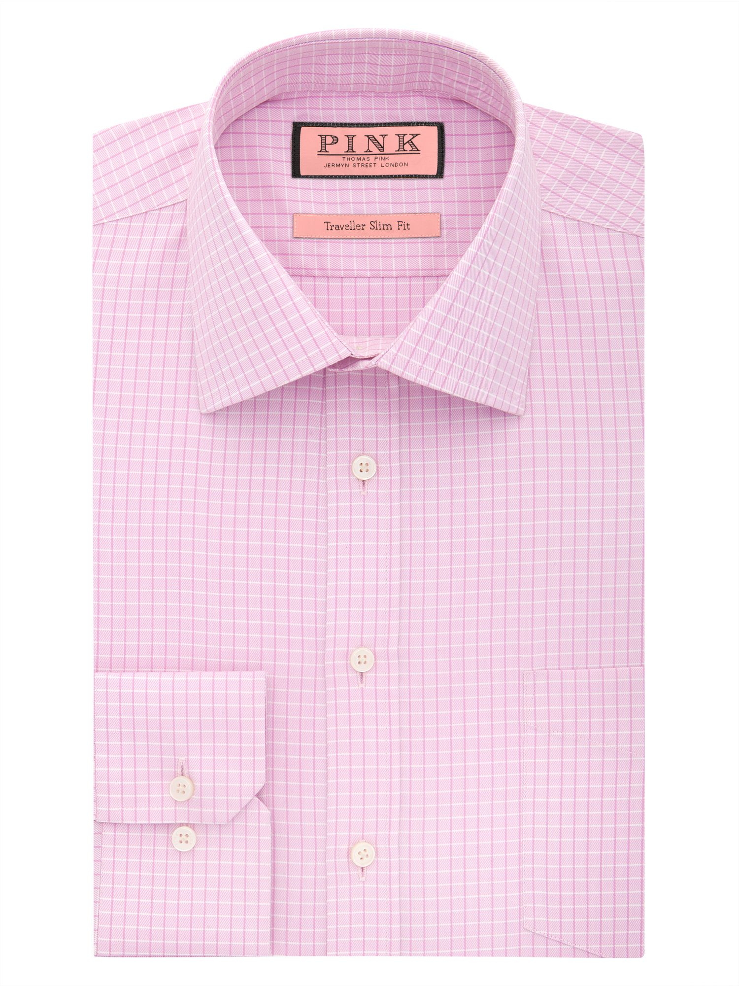Aiello check long sleeve slim fit shirt