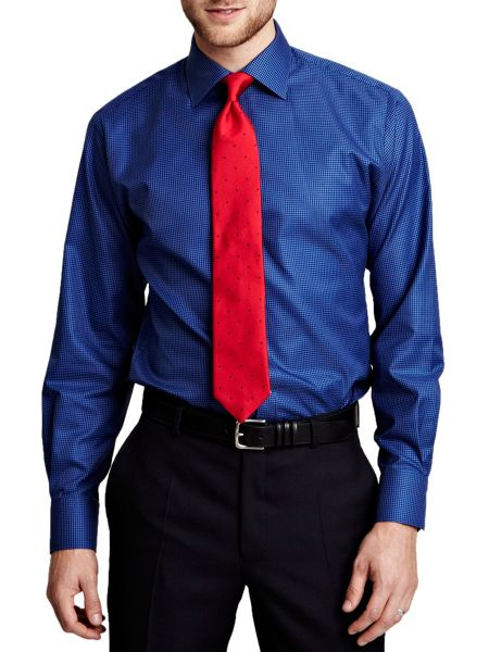 Thomas Pink Battier Texture Slim Fit Shirt