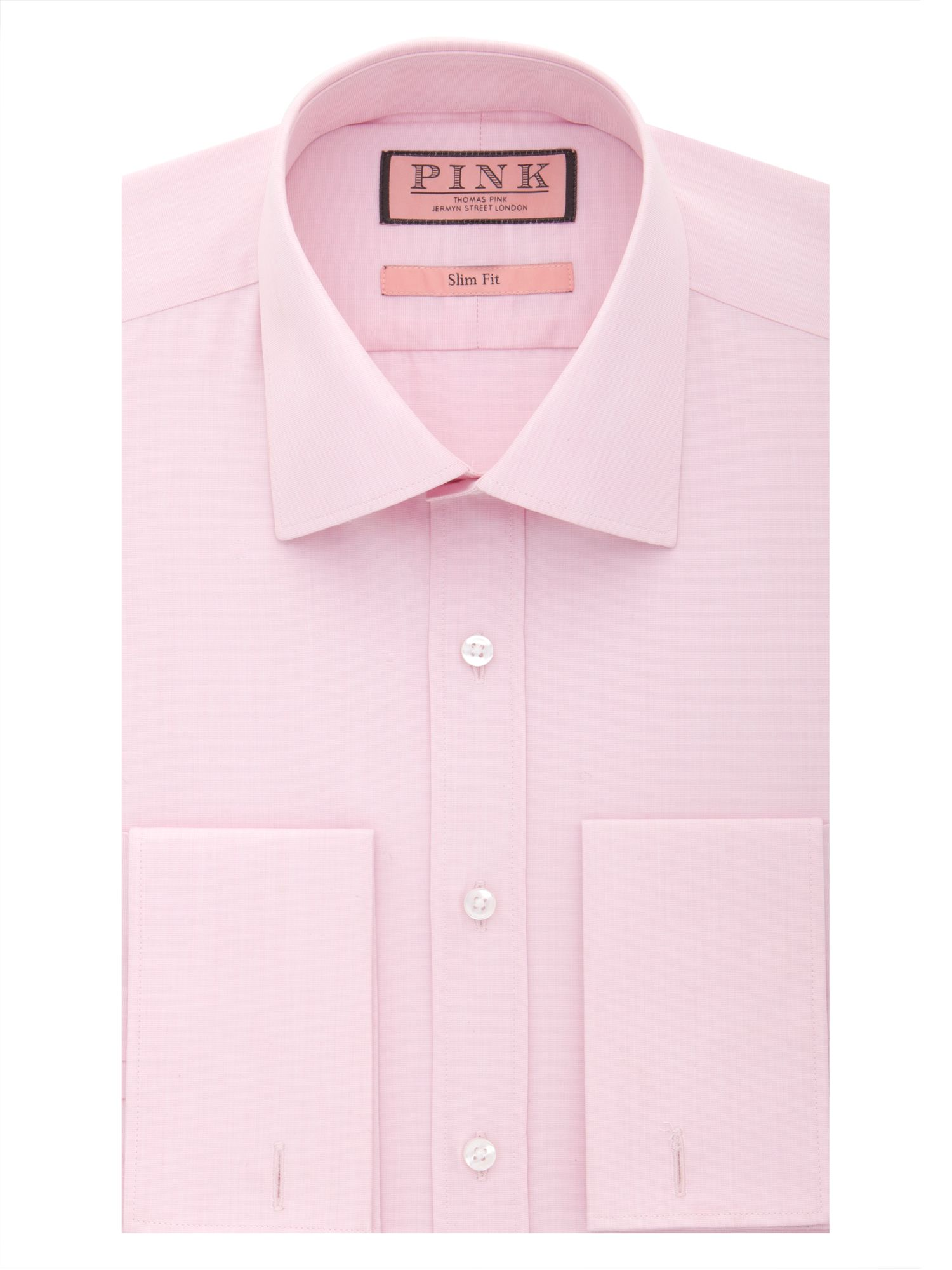 Vectra plain slim fit double cuff shirt