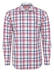 Oliver check button cuff shirt