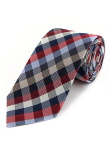 Selby check woven tie