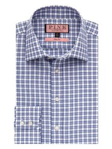 Vencourt check button cuff shirt