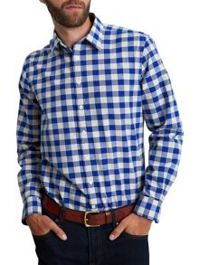 Cosway check button cuff shirt