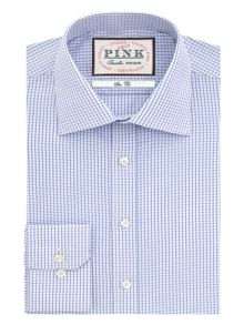 Aldungton check button cuff shirt