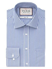 Thomas Pink Brookland stripe button cuff shirt