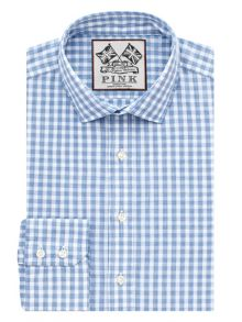 Bailey Check Slim Fit Button Cuff Shirt