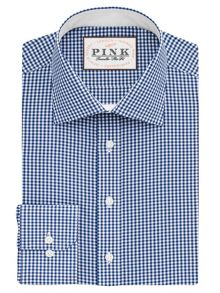 Thomas Pink Hampson Check Slim Fit Shirt