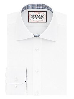 Men's Thomas Pink Mayberry plain slim button cuff