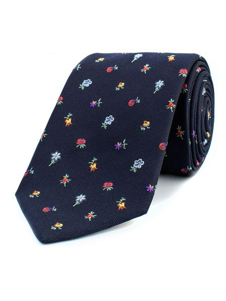 Thomas Pink Hague Flower Woven Tie