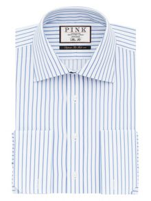 Thomas Pink Gibson Stripe Slim Fit Shirt
