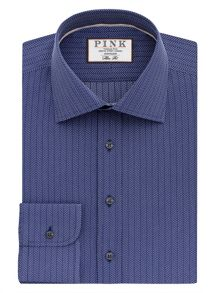 Thomas Pink Marley Stripe Slim Fit Shirt