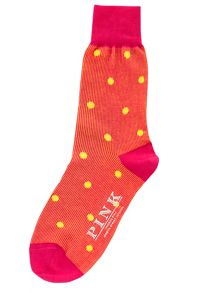 Thomas Pink Ribbed Spot Socks