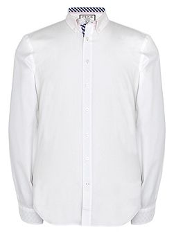 Evenson Plain Slim Fit Button Cuff Shirt