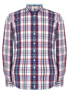 Thomas Pink Ivan Check Slim Fit Button Cuff Shirt