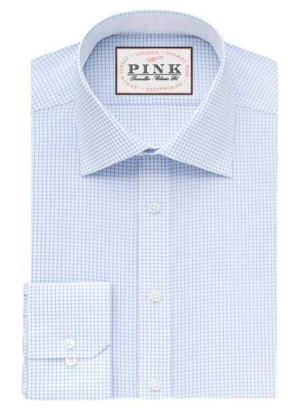 Thomas Pink Finch Check Classic Fit Shirt