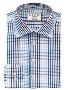 Thomas Pink Daniels Check Slim Fit Button Cuff Shirt