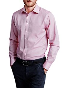 Thomas Pink Finch Check Slim Fit Button Cuff Shirt