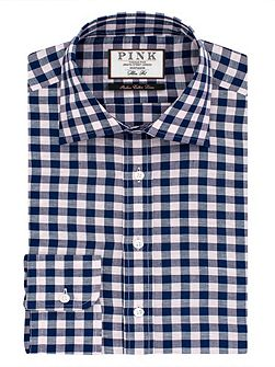 Porter Check Slim Fit Button Cuff Shirt
