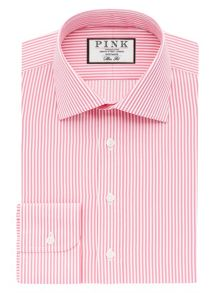 Grant Stripe Slim Fit Button Cuff Shirt