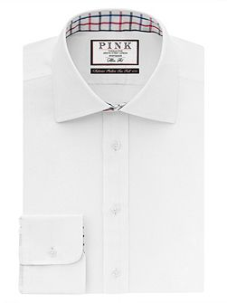 Meyers Plain Slim Fit Button Cuff Shirt