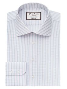 Thomas Pink Zetland Dot Slim Fit Button Cuff Shirt