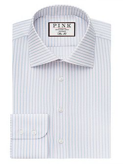 Zetland Dot Slim Fit Button Cuff Shirt