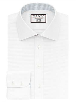 Zetland Plain Slim Fit Button Cuff Shirt