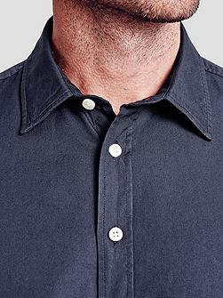 Drake Plain Slim Fit Button Cuff Shirt