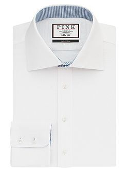 James Plain Slim Fit Button Cuff Shirt