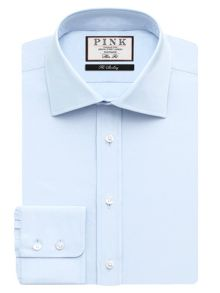 Thomas Pink Frederick Plain Slim Fit Button Cuff Shirt