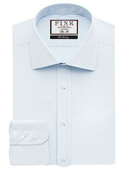Arthur Plain Slim Fit Button Cuff Shirt
